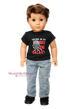 Star Wars Inspired SHIRT + JEANS + SHOES for American Girl Boy Doll Clothes