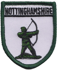 Nottinghamshire County Robin Hood Sherwood Forest Embroidered Patch Badge