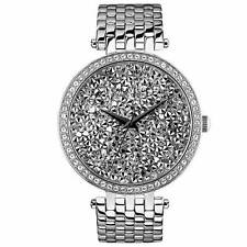 Bulova Caravelle New York Womens Watch Stainless Steel Band Crystal Bezel 43L160
