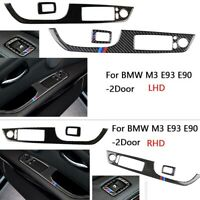 Carbon Fiber Window Lift Switch Button Panel Cover Trim for BMW M3 E93 E90 2Door
