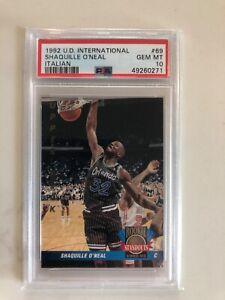 1992-93 UD International Italian #69 Shaquille O'Neal RC Rookie HOF PSA 10