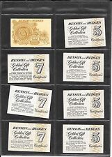 PACKET INSERTS - BENSON & HEDGES - 8 ITEMS - 3 DIFFERENT STYLES
