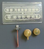 Vintage GE Radio Model 221 Dial Face, Knobs and Station Dial