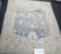 Handknotted Oushak Tribal Turkish Fine Wool Oriental Area Rug In Gray 9x12