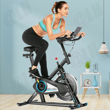 Ancheer Stationary Exercise Bike, Indoor Cycling Bike Belt Drive w/ Lcd Monitor