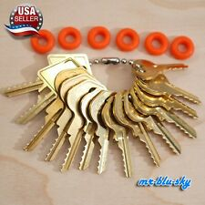 Cut Key Set of 14 (Padlock) with 6 Rubber Rings, Lockout, Locksmith Key Sets