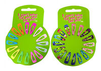 ICB - 36 Mixed Mini Hair Clips Grips Slides Snap on Clips (2 Cards)
