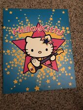 Vintage Sanrio Hello Kitty blue with guitar folder 2001