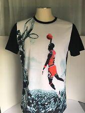 Rare! Michael Jordan Comic Con Exc Shirt Sz L Unique Print  Great Condition