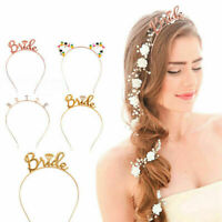 Fashion Bride Bridesmaid Tiara Crown Bachelorette Hen Party Bride To Be Wedding