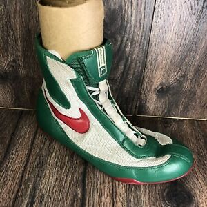 NIKE MACHOMAI 1 MID BOXING SHOES WHITE/RED/GREEN MEXICO MENS SIZE 11