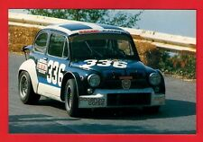 Racing Car Postcard ~ Fiat Abarth 1000 Berlina: 1960s - Niccolini of Italy