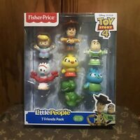 Fisher Price Little People Toy Story 4 Figure 7 Pack Giftset Ages 2+ Toy NEW