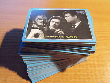 DOCTOR WHO THE DEFINITIVE COLLECTION SERIES 1 COMPLETE BASIC SET OF CARDS