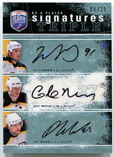 2007-08 BAP Signatures MARC SAVARD PHIL KESSEL GLEN MURRAY Triple Auto Rare #/25
