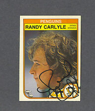 Randy Carlyle signed Penquins 1982-83 Opee Chee hockey card