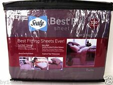 Sealy Best Fit Twin Sheet Set 330TC Regal Purple