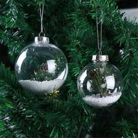 20Pcs Clear Plastic Acrylic Baubles Ball Seamless Home Chrismas Party Decor 80MM