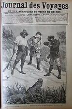 JOURNAL DES VOYAGES N° 693 de 1890 CHASSE AU CONGO / TRANSSIBERIEN FLEUVE ANGARA