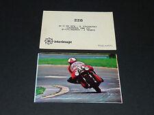 #228 FOUGERAY LAVERDA 1000 24 H SPA PILOTE MOTO COURSES 1976 INTERIMAGE PANINI