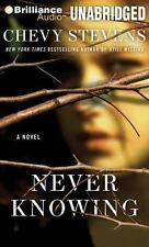 Never Knowing Audio Book by Chevy Stevens (2011, CD, Unabridged) 10 CD's
