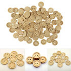 Hot Handmade Wooden Buttons With Love Round Wood Sewing DIY Craft Scrapbooking