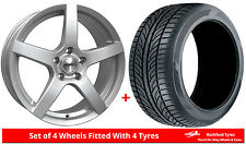 """Alloy Wheels & Tyres 17"""" Calibre Pace For Peugeot 308 [Mk2] 13-16"""