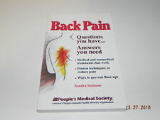 Back Pain : Questions You Have--Answers You Need by Sandra Salmans (1995, Pap...