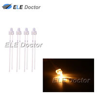 100pcs 2mm Water Clear Warm White Light Round Top LED Diodes 16000Mcd