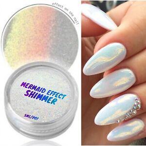MERMAID EFFECT GLITTER NAIL ART POWDER DUST GLIMMER Hot Nails Iridescent 3g UK