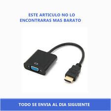 Conversor Cable Adaptador HDMI Macho a VGA Hembra-HDMI to VGA 1080p Negro