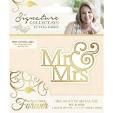 SALE New Sara Davies Together Forever Collection Die Mr and Mrs