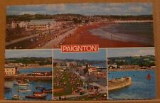 Postcard Posted 1984 Devon, 4 Views of Paignton