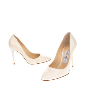 RRP €635 JIMMY CHOO Leather Court Shoes Size 37 UK 4 US 7 Patent Made in Italy