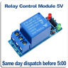 Single 1 channel relay board module. 5V relay ideal for arduino, PIC, RPI