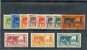 MIDDLE CONGO Sc J23-33(YT T23-33)**VF NH 1933 POSTAGE DUE SET $250