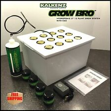 12 Plant Hydroponic Kit For Grow Tents And Grow boxs with CFL LED HPS Lighting
