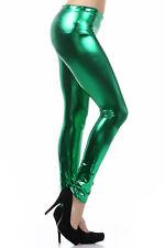 Clubwear Liquid Stretch Wet Look Shiny Metallic Tight Pants Leggings Size S M L