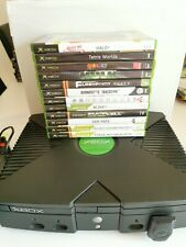 Microsoft Xbox Classic Konsole + 2 Controller + alle Kabel + 12 Spiele (Halo..)