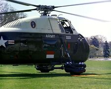 Helicopter with Indonesian Sukarno leaves Kennedy White House Photo Print