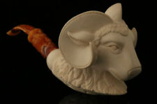 Ram Block Meerschaum Pipe Hand Carved by I. Baglan 8500