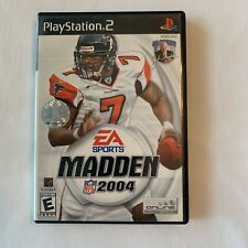 PS2 Madden NFL 2004 Michael Vick Complete W/ Booklet EA Sports Falcons