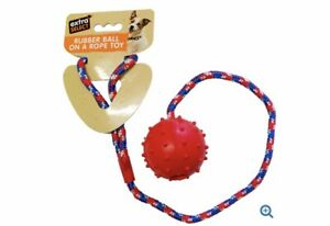 Extra Select Rubber Ball on Rope Dog Toy