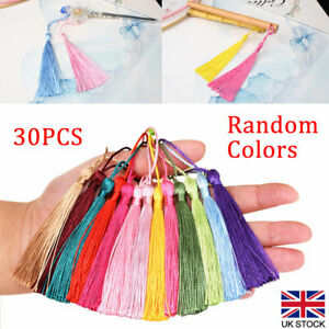 30Pcs Silky Tassels Crafts for Souvenir Bookmarks Jewelry Making Accessories DIY
