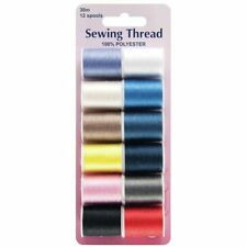 Hemline Sewing Thread 12 Assorted Colours
