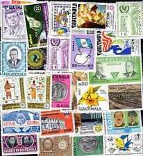 GUATEMALA collections de 25 à 500 timbres différents