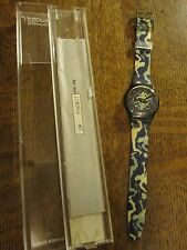 "VINTAGE 1991 NOS SWATCH WATCH GG 111 ""CRASH"" BY GIACON - MIB"