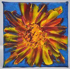 Sunburst Mini Sunflower Gallery Wrap Canvas Acrylic Painting Contemporary Artist