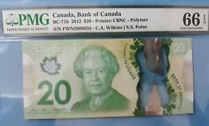 2012 Canada $20 Dollars PMG66 EPQ GEM UNC, QEII Polymer <BC-71b>