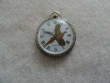Vintage Wind Up Swiss Made American Necklace Pendant Watch - Not Working